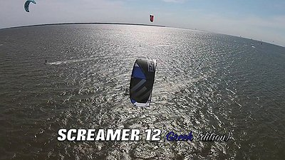 Kiter testing the (5G) SCREAMER 12 (GREEK ltd)